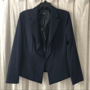 Tahari Navy Blue Cropped Blazer Jacket 12